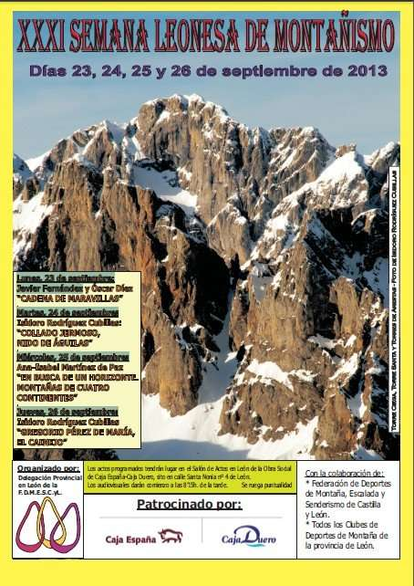 Cartel de la XXXI Semana Leonesa de Montañismo