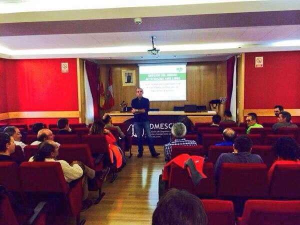 Alberto Ayora en la charla sobre gestión de riesgos del pasado sábado. /FDMESCYL