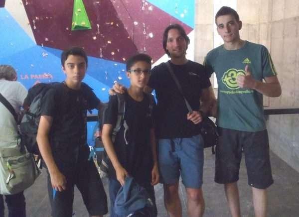 Los miembros de la selección regional juvenil de escalada. /FDMESCYL