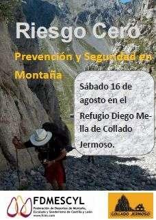 Presentación de Riesgo Cero en Collado Jermoso. /Fdmescyl