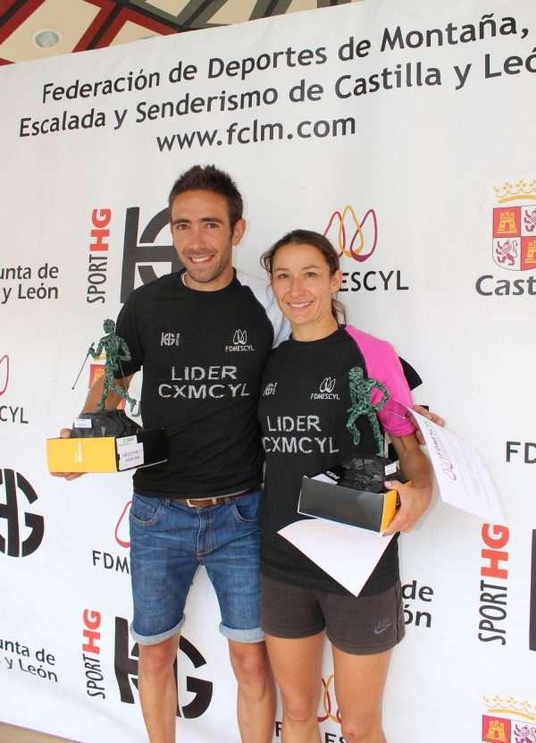 Los ganadores de la Copa Sport HG de Castilla y León de Carreras por Montaña en Línea, Felipe Iglesias y María Díez. /FDMESCYL