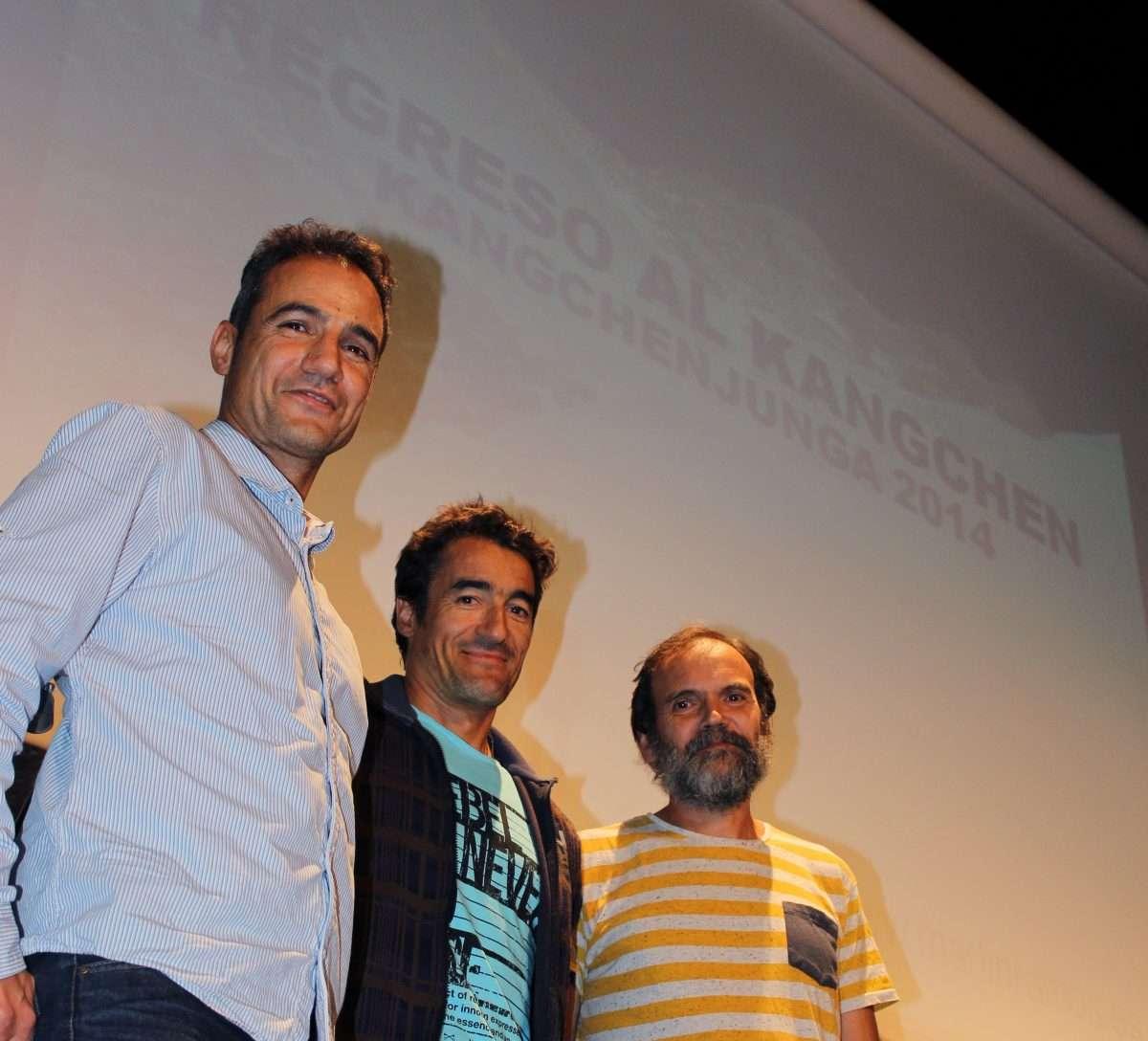 Presentación de la Semana de la Montaña de Valladolid con Martín Ramos en el centro. /FDMESCYL