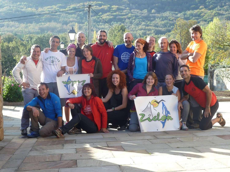 El Club Deportivo Ziclón, durante la expedición conmemorativa de su 21 aniversario. /CD ZICLÓN