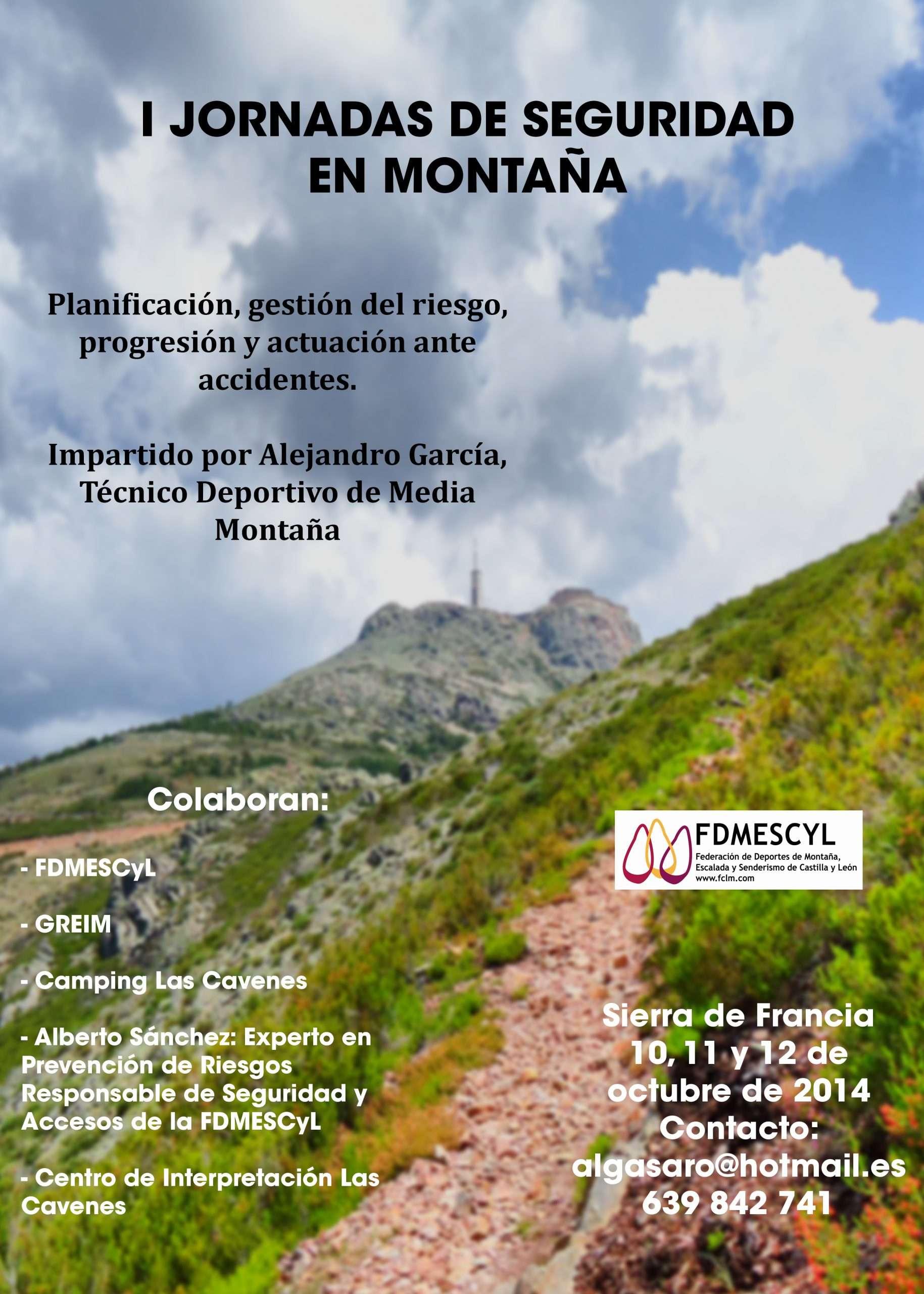 Cartel Jornadas de Seguridad en la Sierra de Francia. /FDMESCYL
