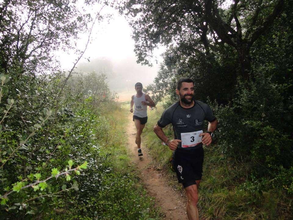 El mirandés Felipe Artigue, en la edición de la III Carrera por Montaña de Miranda de Ebro. / CMM