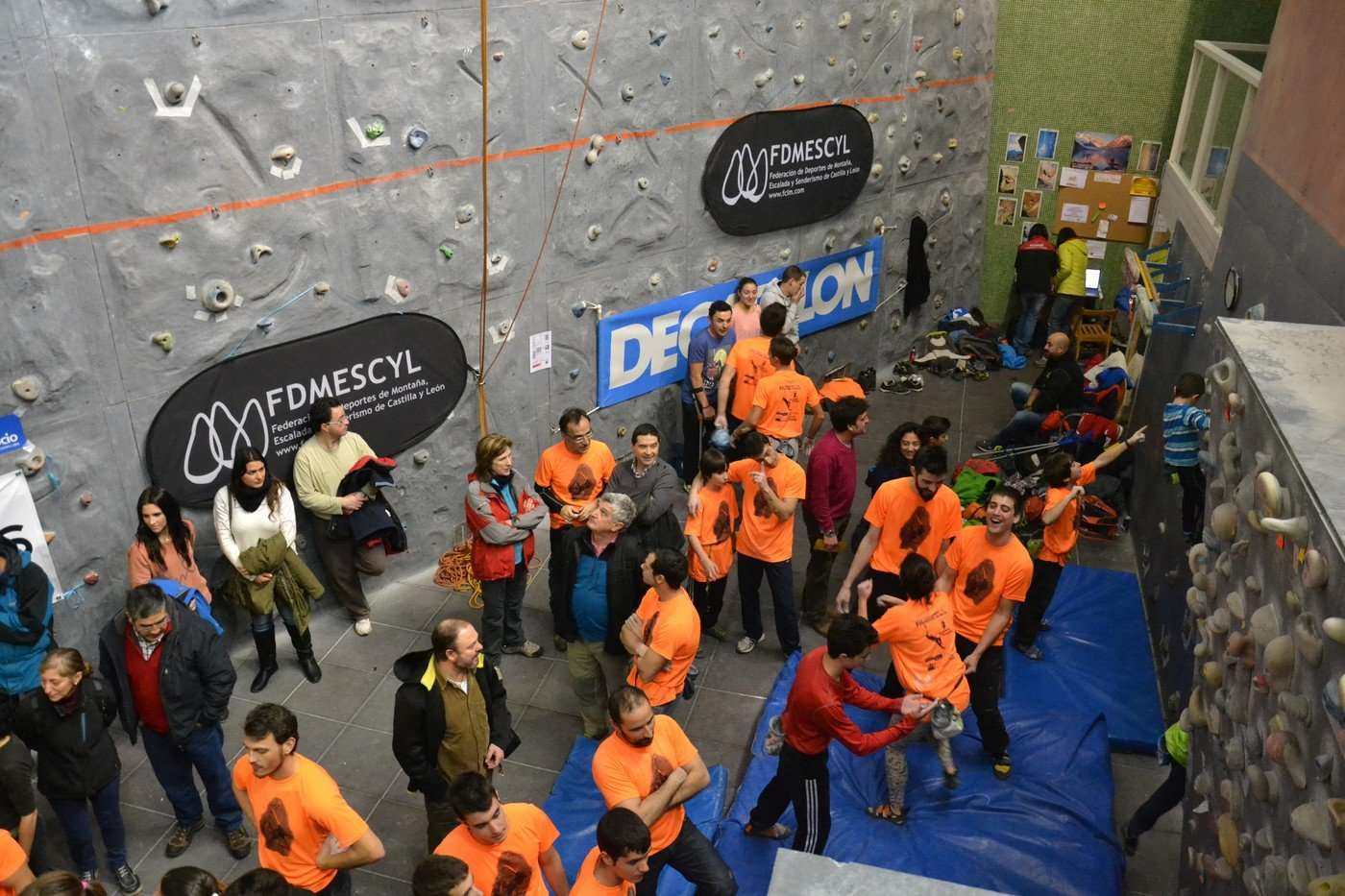 Imagen de la pasada edición del Campeonato de Escalada Ciudad de Burgos. /MONTAÑEROS BURGALESES