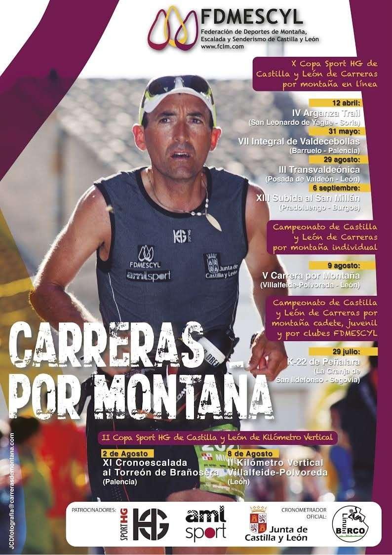 Cartel de la X Copa Sport HG de Carreras por Montaña 2015. /FDMESCYL