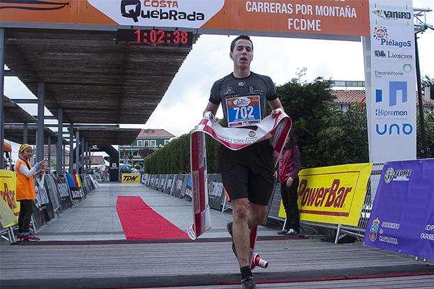 Juan Rodríguez, vencedor junior del Trail Costa Quebrada. /FCDME