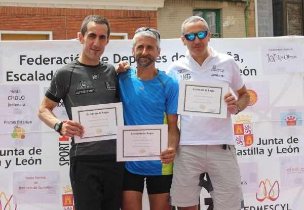 Podio de la VIII Integral de Valdecebollas, segunda prueba de la Copa Sport HG. /FDMESCYL