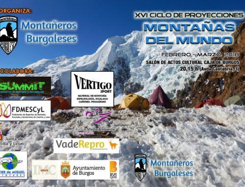 """Burgos acoge el XVI Ciclo de Proyecciones """"Montañas del Mundo"""""""