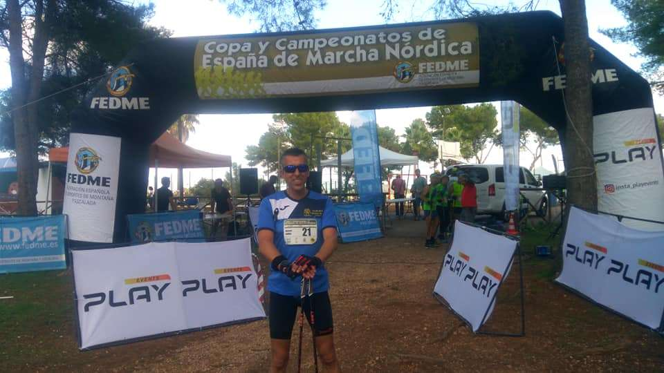 Lolo Muñoz, vigésimo en el Campeonato de España de Marcha Nórdica