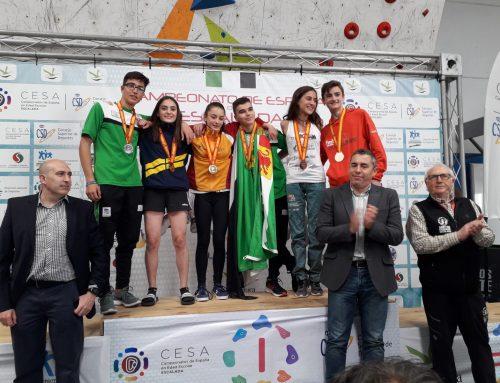Iziar Martínez, campeona de España cadete de escalada