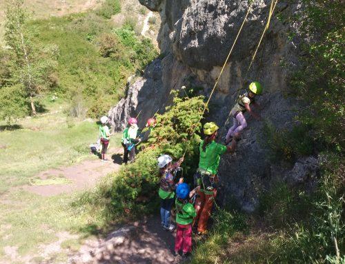 La Escuela de Escalada de Valladolid cierra el curso con una jornada en Gama