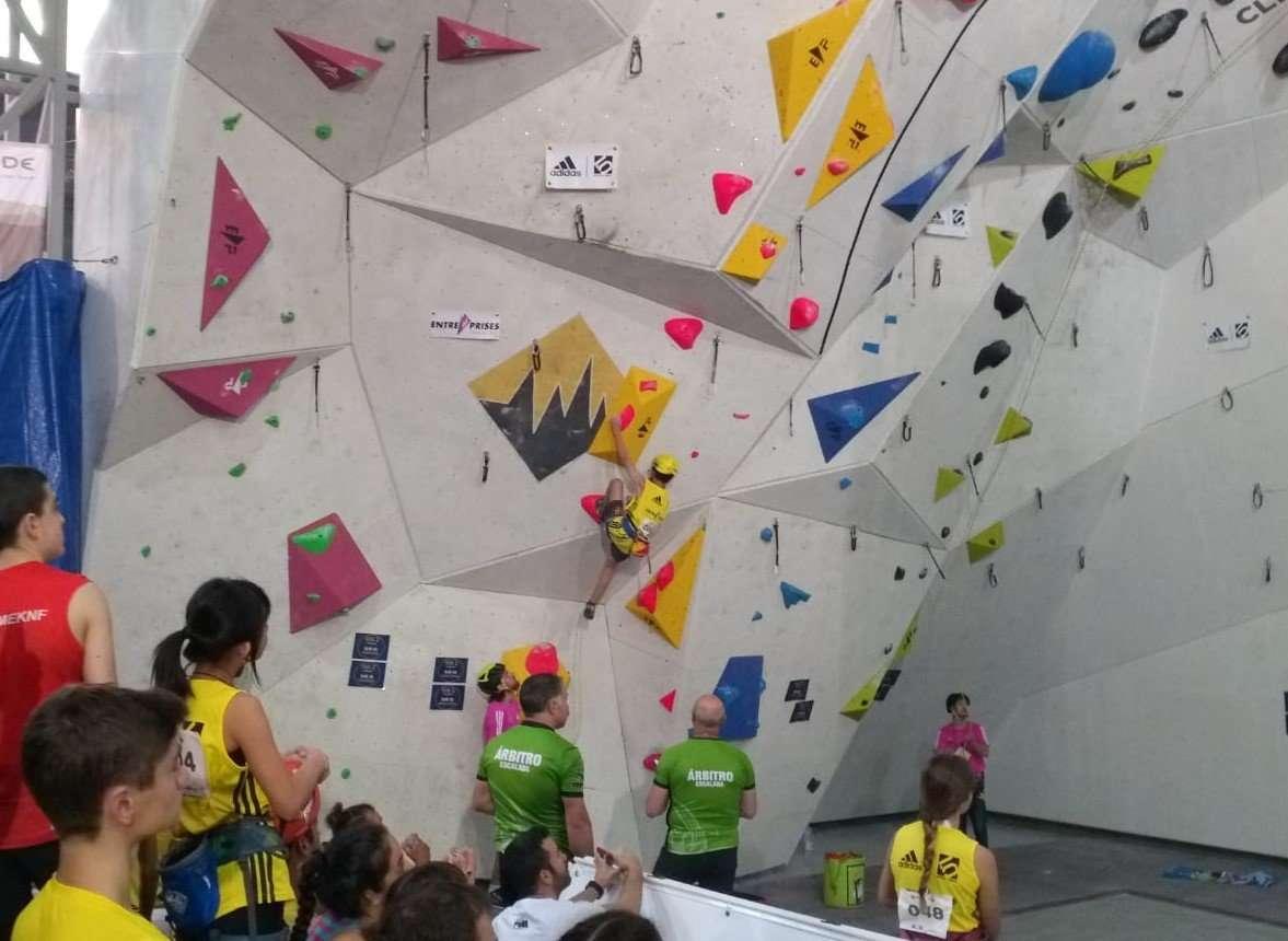 Cinco finalistas, balance de la primera prueba de la Copa de España de Escalada
